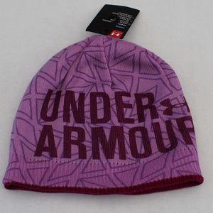 NWT Girls Under Armour lavender knit beanie